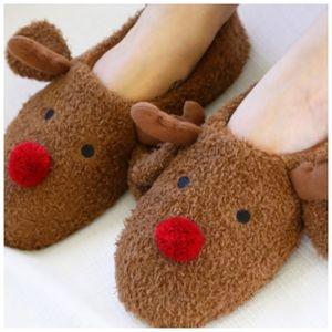 Rudolph reindeer Christmas slippers